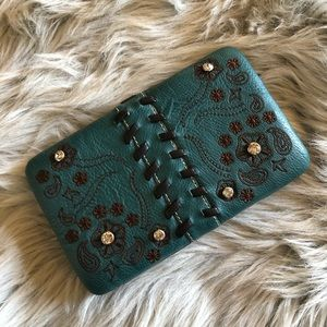 Montana west embroidery Rhinestone clutch wallet
